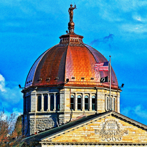 New Copper Dome - Bradford County Courthouse 2