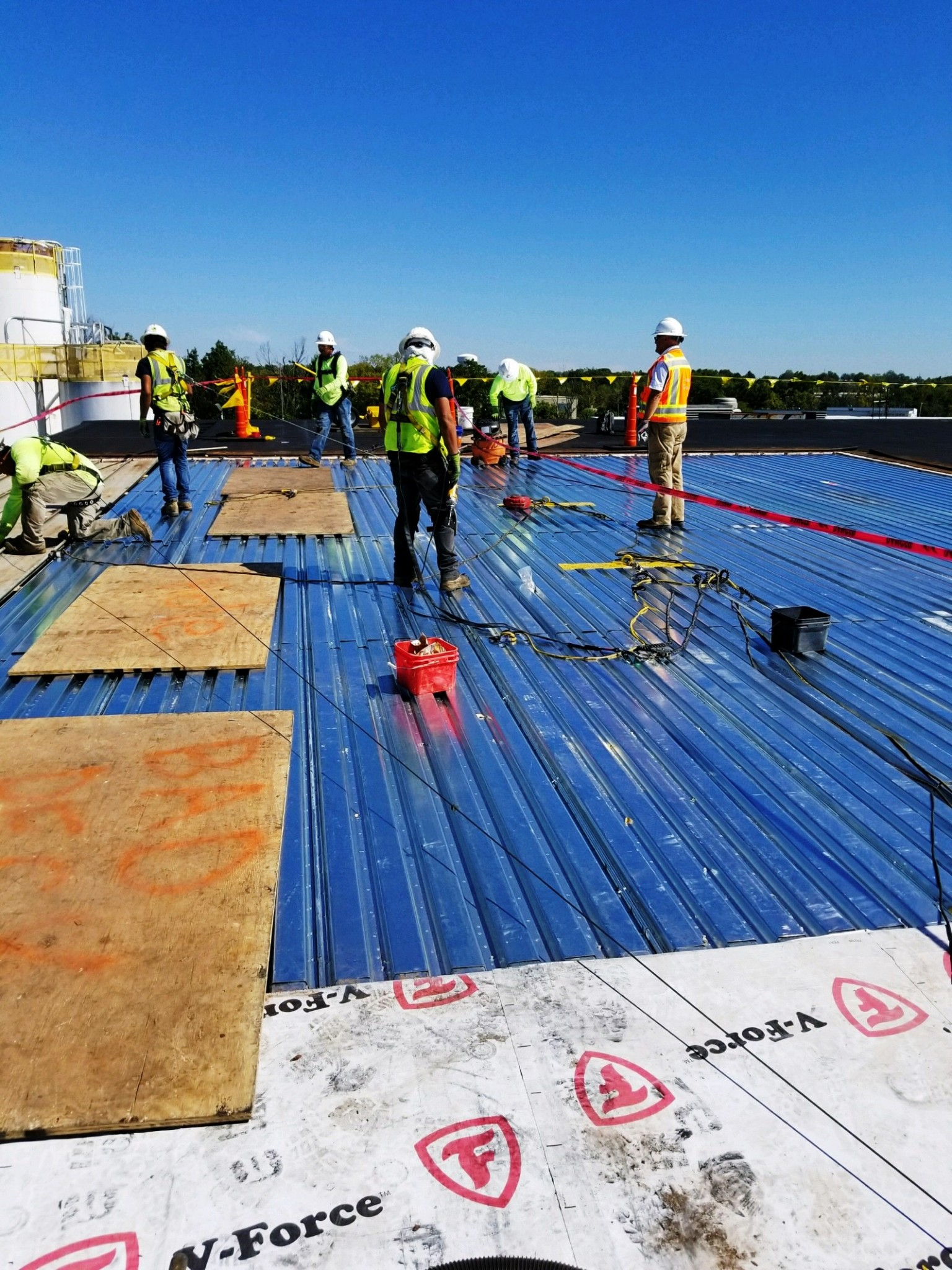 Kellogg Roof Areas C 1 C 4 D Amp E Evans Roofing Company